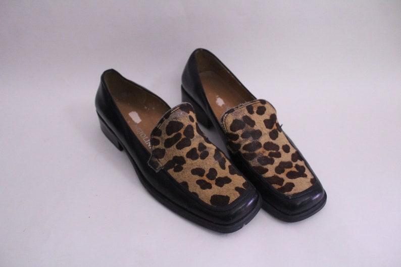 29a8c4e11de7e Cheetah Print 90s Loafer Flats | Etsy