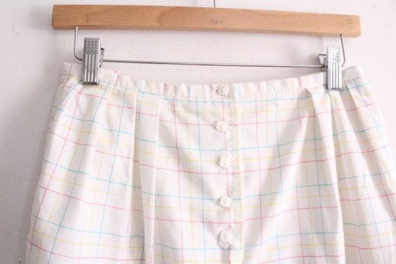 Pastel Grid Plaid 80s Pants - image 3