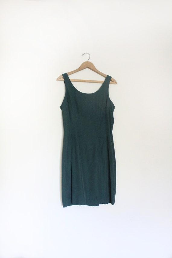 Forest Green 90s Mini Dress
