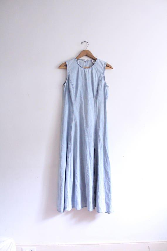 Minimal 90s Denim Maxi Dress