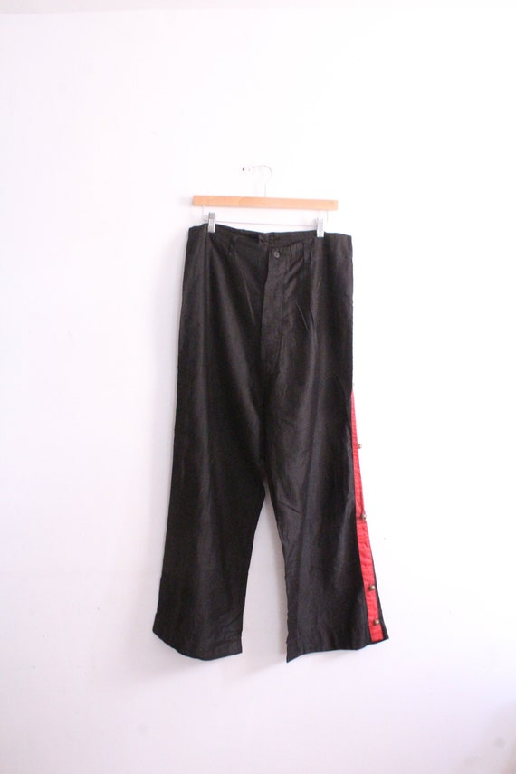 Chinese Red Stripe Bell Pants