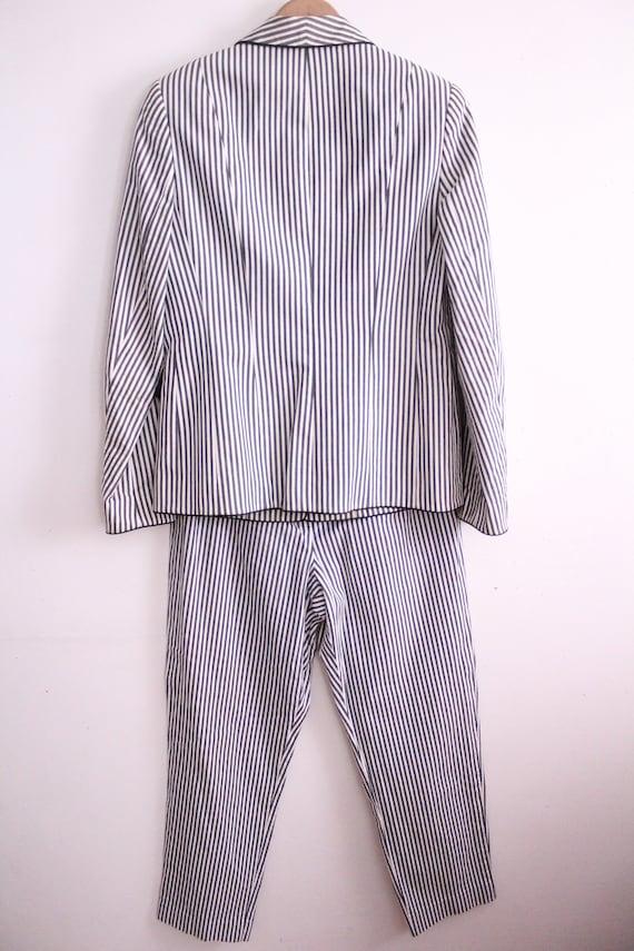 Vintage 90s Seersucker Striped Pant Suit - image 8