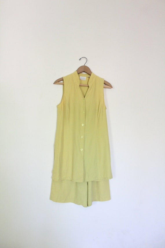 Chartreuse Luxe 90s Matching Set