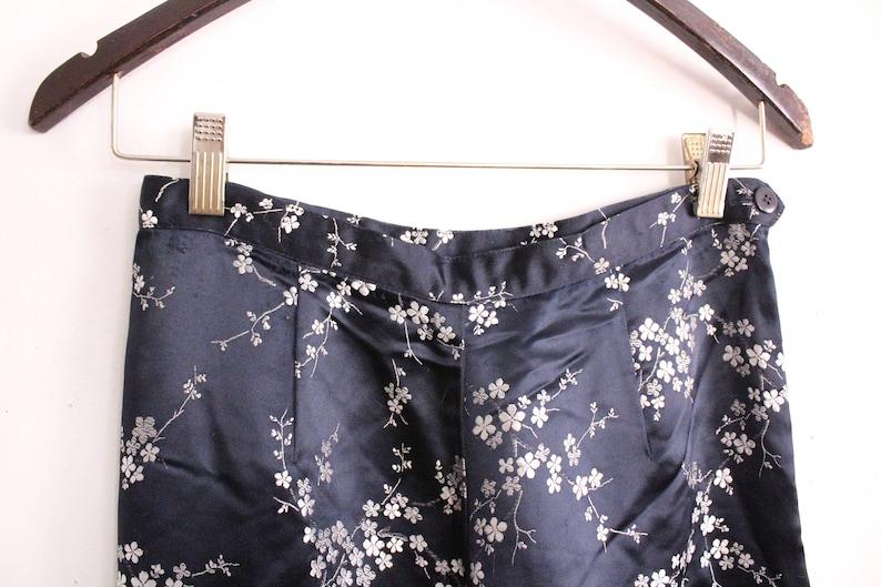 Silky Chinese Brocade Pants