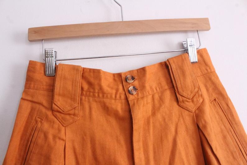 Luxe Orange 90s Long Short