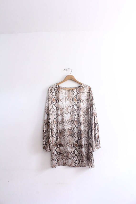 Satin Snakeskin 90s Mini Dress