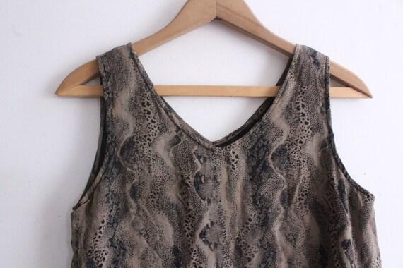 Snakeskin Silk Chiffon Mini Dress - image 3