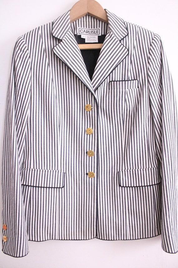 Vintage 90s Seersucker Striped Pant Suit - image 4
