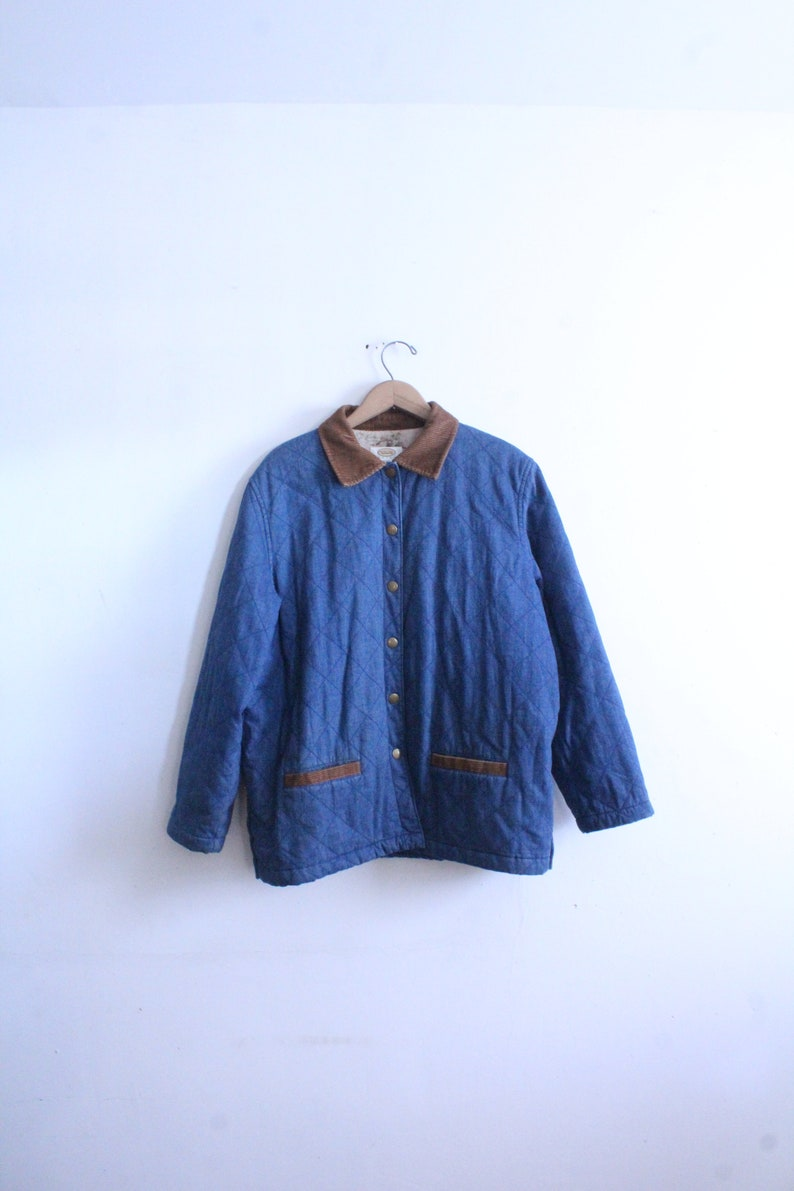 36d37f4a6 Quilted Denim 90s Barn Jacket