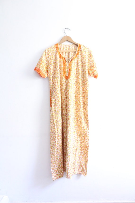 Ethnic Paisley Kaftan Maxi Dress