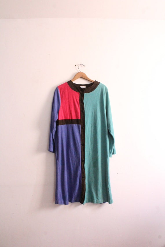Mondrian Colorblocked 80s Cozy Dress