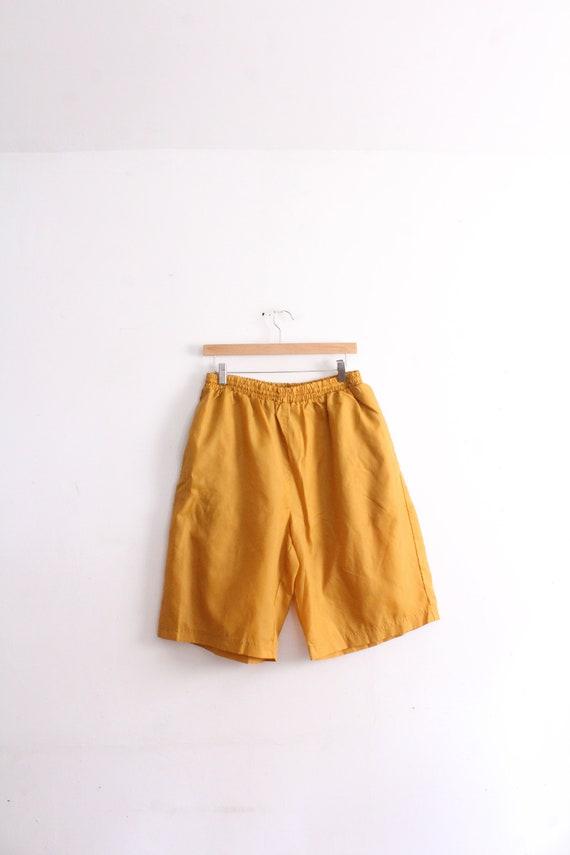 Swishy Copper Bermuda Shorts