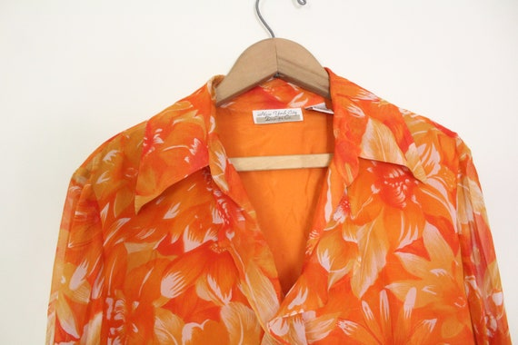 Tropical Floral Silk Chiffon Outfit - image 5