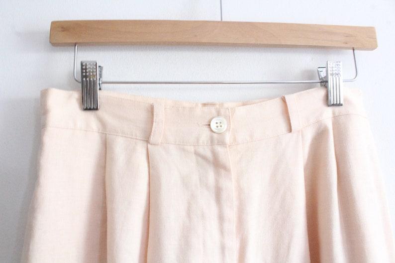 Pink Linen 90s Shorts