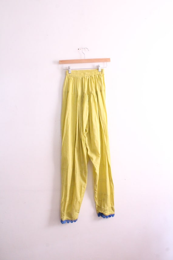 Lime Green 90s India Pants