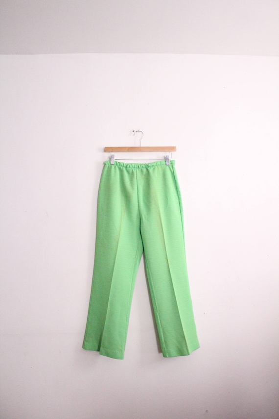Lime Green 70s Knit Pants