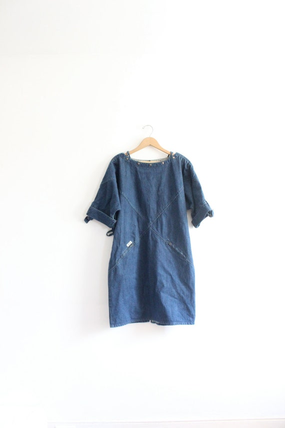 Structured Loose Denim Dress