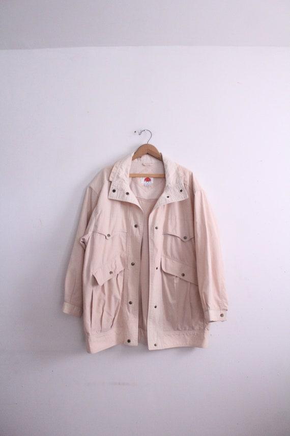 Minimal Tan 90s Parka Jacket