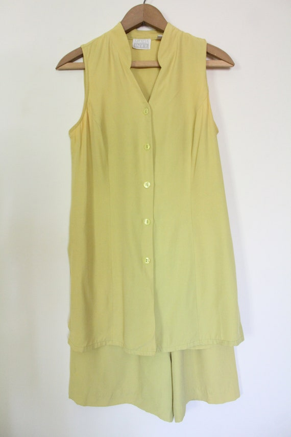 Chartreuse Luxe 90s Matching Set - image 2