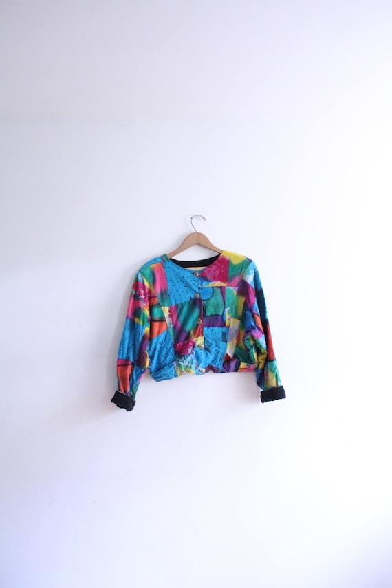 Reversible Rainbow Patchwork Jacket