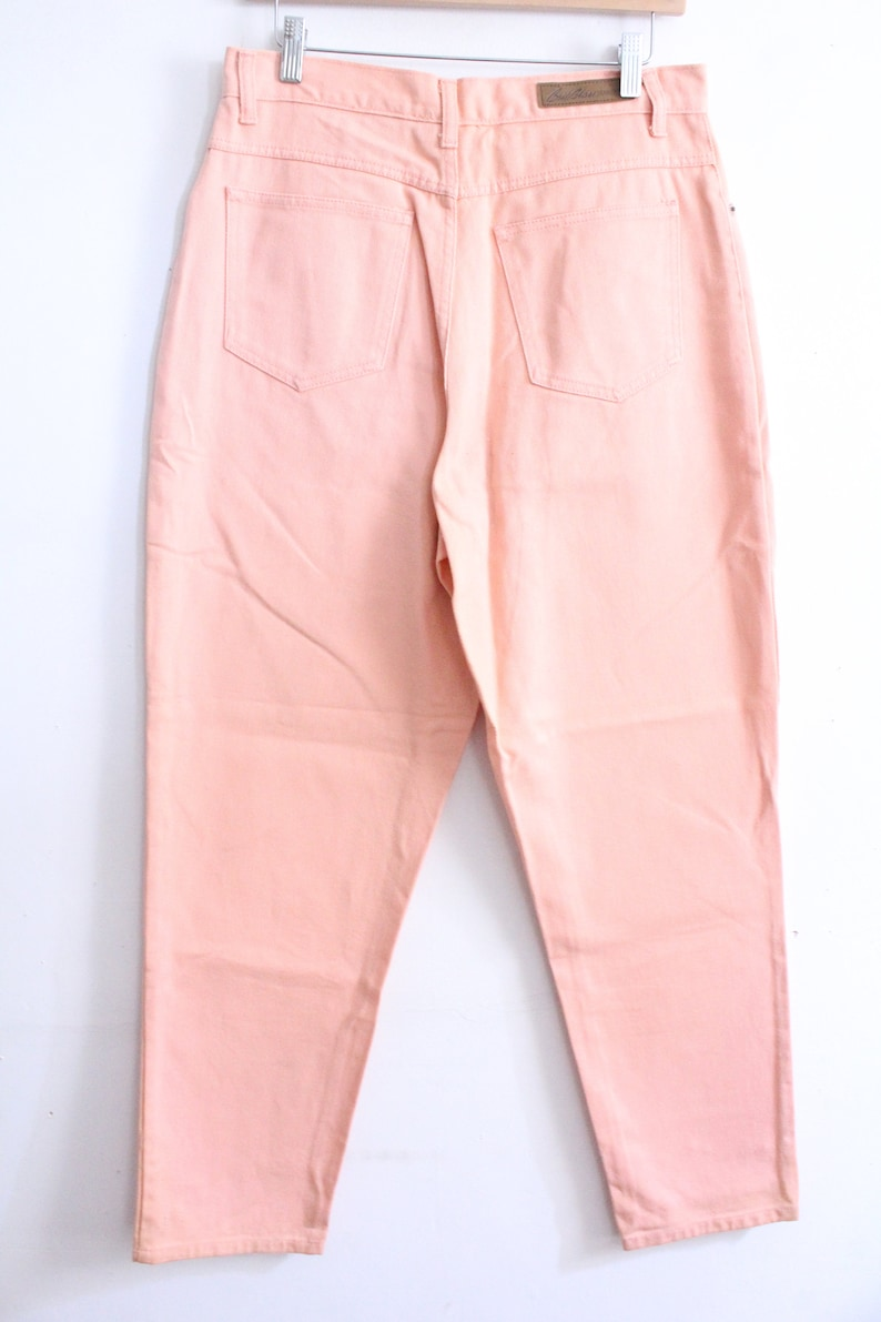 Salmon Pink Straight 90s Jeans