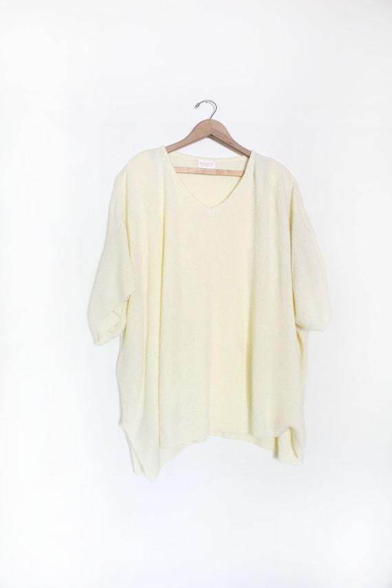 Vintage 90s Pastel Yellow Oversized Sweater