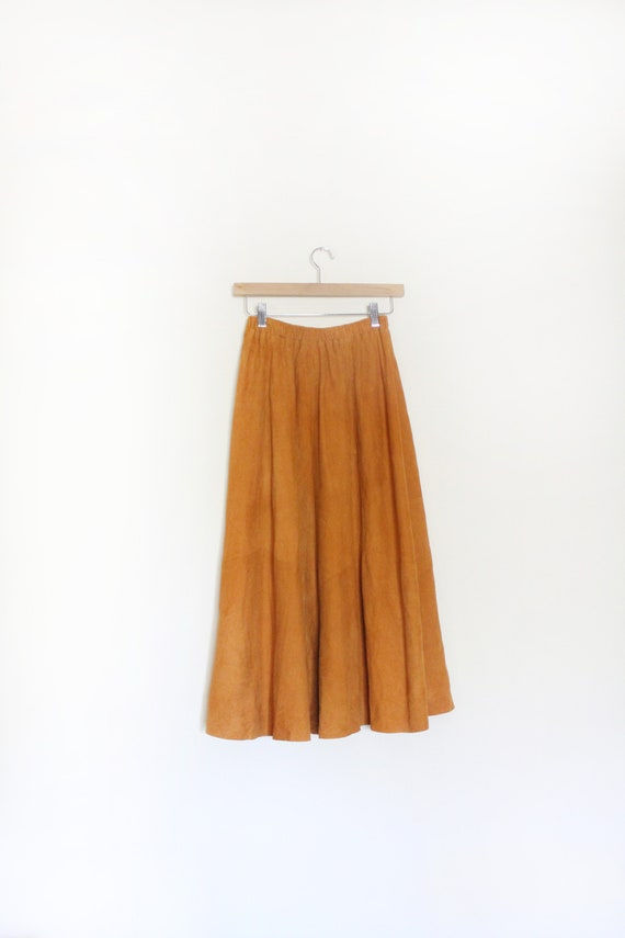 Soft Suede Luxe Midi Skirt
