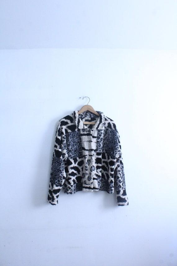 Luxe Leopard 90s Fleece Jacket