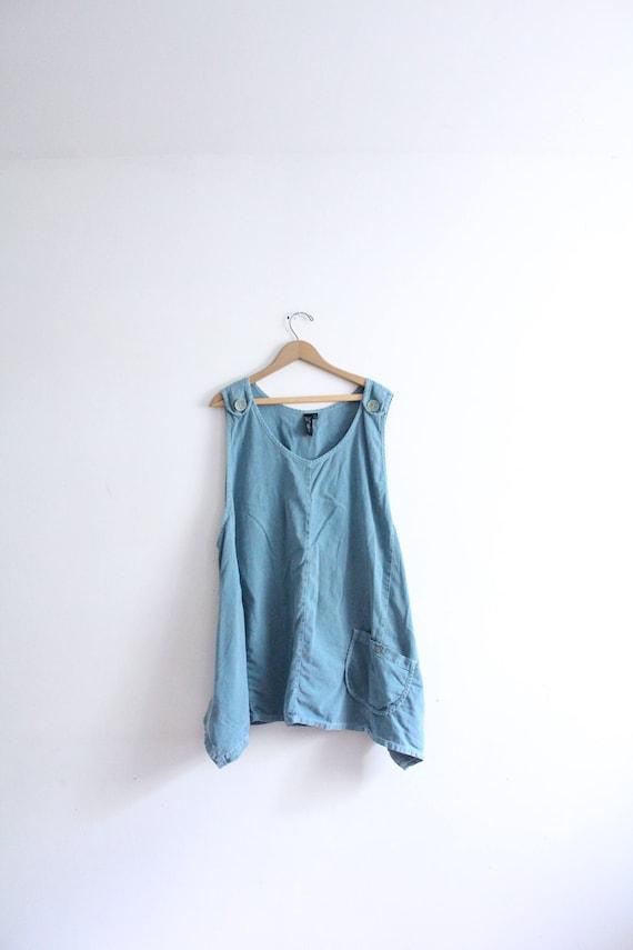 Teal Blue Hippie Trapeze Dress