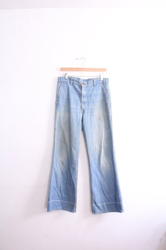 Rare 70s Levis Flared Blue Jeans