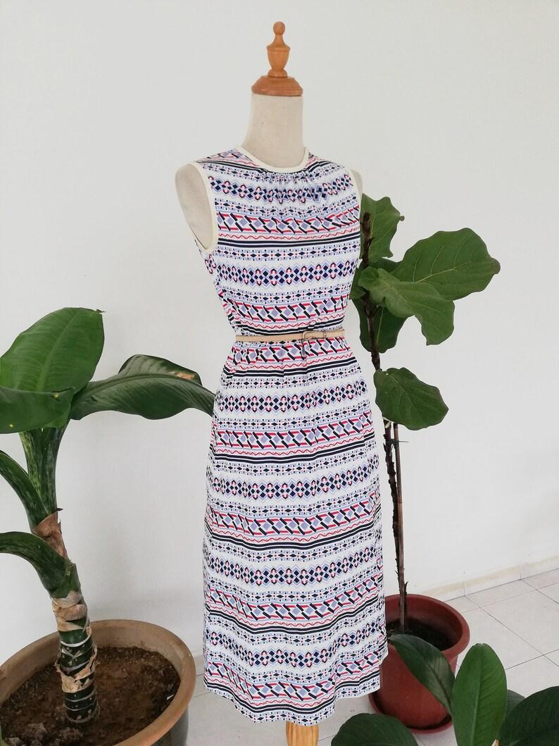 Modern Tribal Print Sleeveless Dress