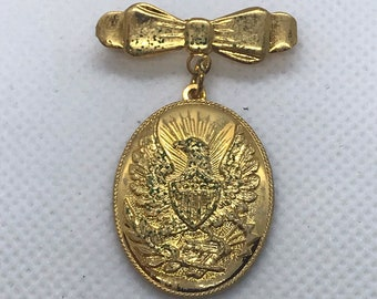 59f4f4d62ff Vintage Eagle Pin with Bow