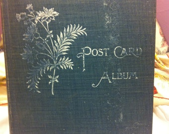 Postcard Album Filled with Postcards Mostly dated in the Early 1900's