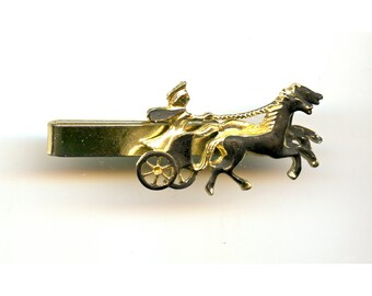Chariot Cufflinks and Tie Clip