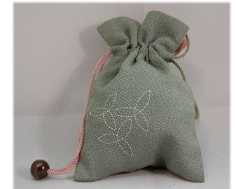 Kinchaku Drawstring Bag (Crepe fabrics / A Series)