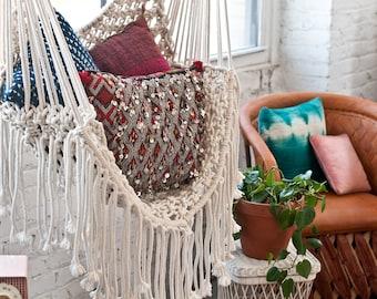 Hippy hamac / / chaise en macramé