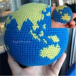 2 Crochet Patterns, Mini and Large Crochet Globes, World, Earth Amigurumi