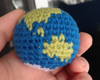 PATTERN Mini Globe Crochet, World, Earth Amigurumi