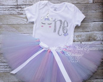 Unicorn First Birthday Tutu Outfit- Cake Smash Outfit- 1st Birthday Outfit- Unicorn Birthday- 1st Birthday- One- Cake Smash Outfit- Unicorn