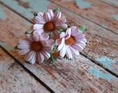 Light Pink Daisy Hair Pins- Mulberry Flowers- Hair Flowers- Floral Hair Pins- Bridal Hair Accessories- Flower Girl- Hair Accessories