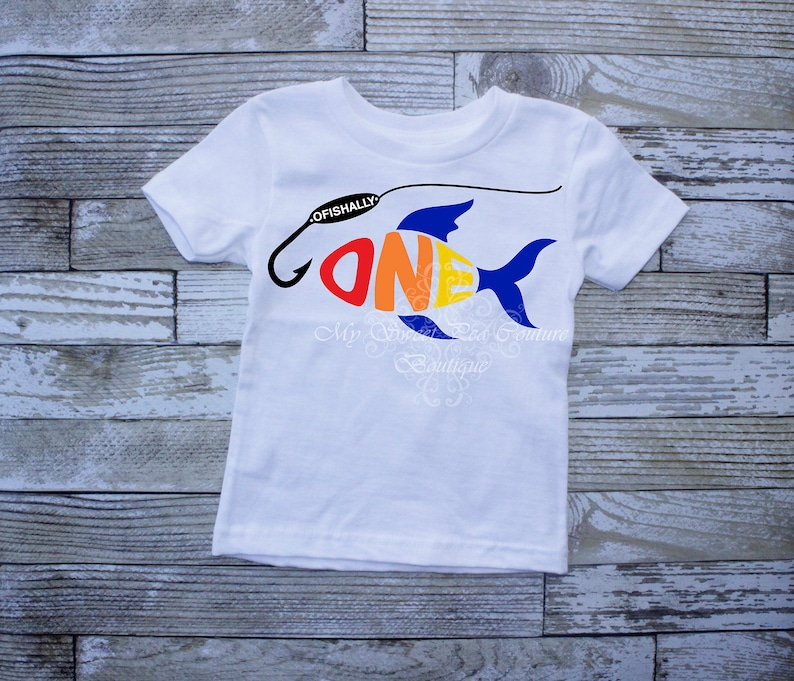 O/'Fishally One First Birthday Outfit Boy First Birthday Shirt Fishing 1st Birthday Fishing First Birthday Outfit 1st Birthday Big One Fish