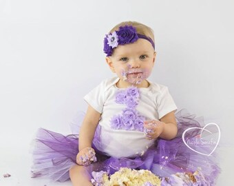 Custom- 1st Birthday Tutu Outfit- Personalized 1st Birthday Outfit- Tutu Outfit- 1st Birthday Outfit- Cake Smash- First Birthday Outfit