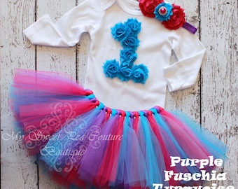 You Choose- 1st Birthday Tutu Outfit- Personalized 1st Birthday Outfit- Tutu Outfit- 1st Birthday Outfit- Cake Smash- First Birthday Outfit