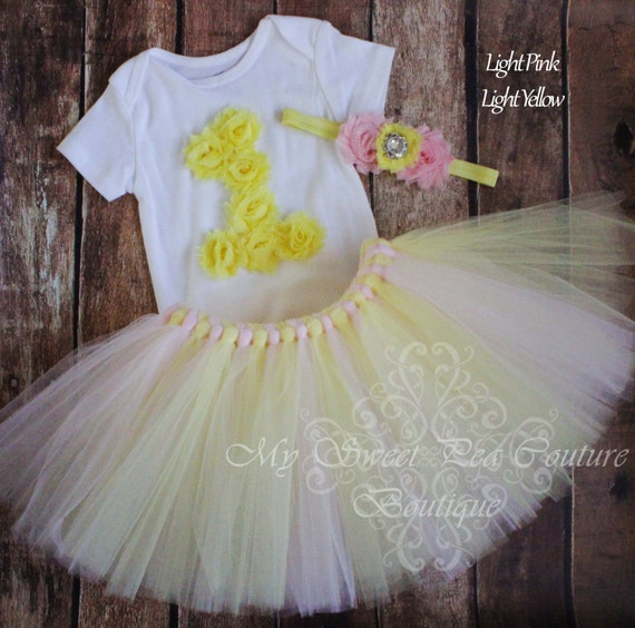 1st Birthday Tutu Outfit Personalized 1st Birthday Outfit