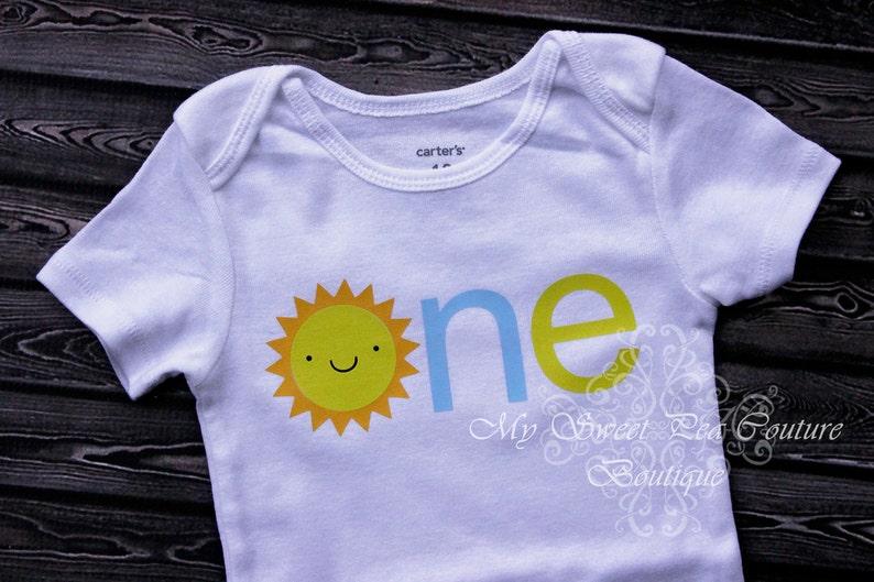 You Are My Sunshine First Birthday Shirt Boy