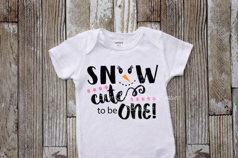 1st Birthday Winter Wonderland First Birthday Snowgirl Outfit Snowman Birthday Snowflake Birthday Snow Cute to be One Birthday Outfit