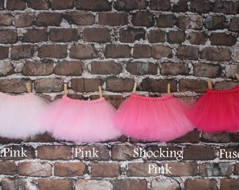 Shades of Pink Tutu- Tutu- Princess Tutu- Baby Tutu- Newborn Tutu- Toddler Tutu- Birthday Tutu- First Birthday Tutu- Photo Prop- Size 0-24M
