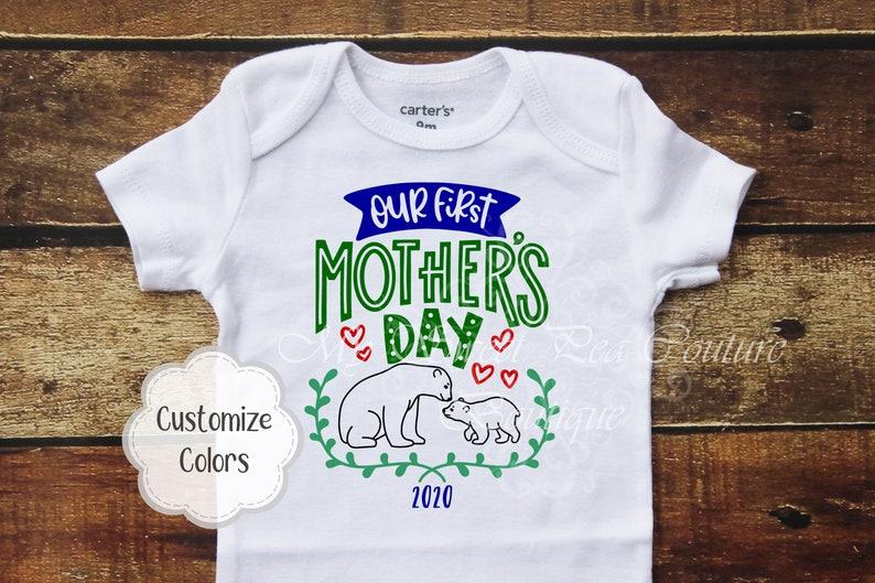 Our First Mothers Day Shirt Our 1st Mothers Day Together Mothers Day Gift 1st Mothers Day First Mothers Day Mothers Day Gift from Child