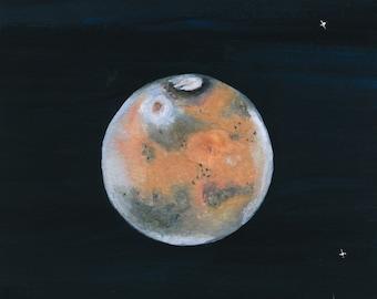 Mars - gouache on watercolor paper