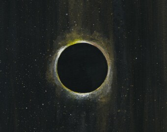 Eclipse - gouache on watercolor paper